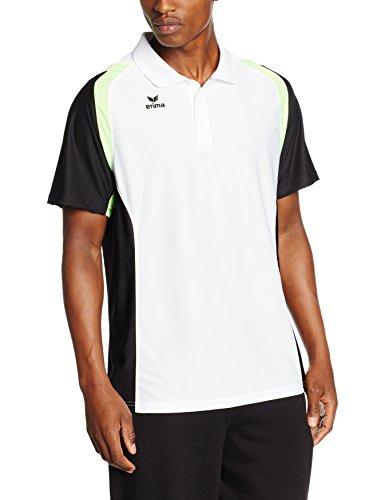 erima Herren Poloshirt Razor 2.0 Weiß/Schwarz/Green Gecko