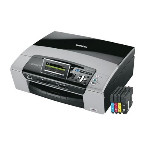 Brother DCP-585CW 3-in-1 Tinten-Multifunktionsdrucker (integrierter LAN/WLAN DCP-Server, LCD-Farbdisplay) inkl. 3 Jahre Herstellergarantie