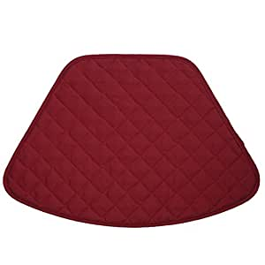 Set of 2 Berry Quilted Wedge-Shaped Placemats for Round Tables by Sweet Pea Linens