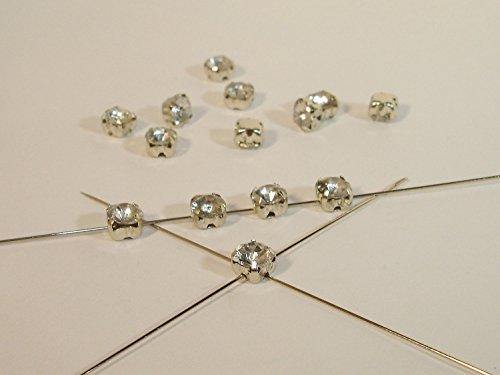 20 Aufnähsteine, Montees, facettiert, 5mm, Kristall, P2 (Ein Von Einer Art Bauchtanz Kostüme)