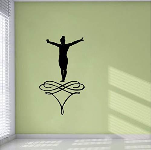 Aufkleber Applique Pvc Vinyl Selbstklebende Aufkleber Gymnastik Küche Und Fitness-Studio Pvc Wandaufkleber Personalisiert 38Cm * 66.5Cm - Boys-club-fitness-studio