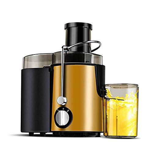 Dapang Big Mouth Juice Extractor Elektrische Saftpresse, 400 Watt, leiser Motor & kalt gepresste Saftpresse mit Pinsel, Saftrezepte für Gemüse und Obst,Gold