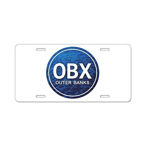 Metall-eitelkeit-bank (CafePress OBX-Außen Banks Aluminium Nummernschild-Standard Mehrfarbig)