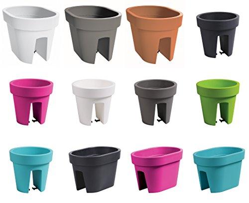 Fioriere In Plastica Per Balconi.Multibros Set Da 2 Fioriere Da Balcone In Plastica Verde