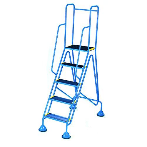 Praktische Panda WS515_ blau Fort Kuppel Füße 5Schritt mit Full Handlauf in Anti-Rutsch Trittflächen, blau