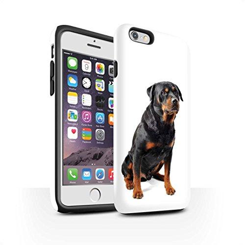 STUFF4 Matte Harten Stoßfest Hülle / Case für Apple iPhone 7 Plus / Bull Terrier Muster / Hund/Hunde Kollektion Swiss Mountain