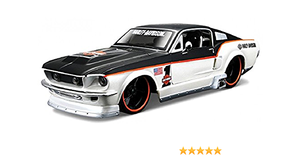 Harley Davidson 1967 Ford Mustang Gt Rot Silber Maisto 1 24 Spielzeug