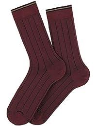 Chaussettes rayures verticales en fil d'écosse