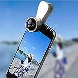NINI Handy-Objektiv 0,36 X Weitwinkel + 15X Makro 2-in-1 HD-Handy-Objektiv Für Reise Fotos, Youtube-Aktie,Silver