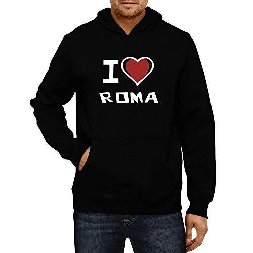 Idakoos I Love Roma Bicolor Heart Kapuzenpullover M (Roma I Love Pullover)