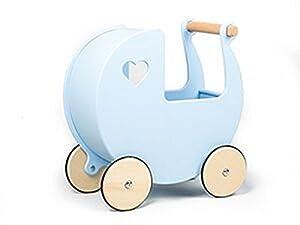 Unbekannt Moover Moov de 210188muñeca de Madera Carro, Color Azul Claro