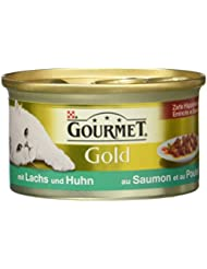 Gourmet Gold Katzenfutter mit Lachs und Huhn, 12er Pack (12 x 85 g)