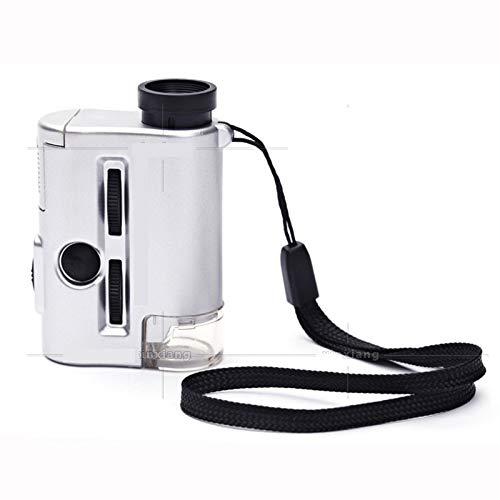 Iluminación lámpara UV 60 Veces 30 Veces Mini microscopio
