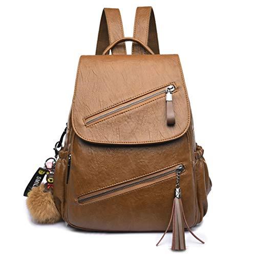 DEERWORD Damen Rucksackhandtaschen Damenhandtaschen Tornistertaschen Henkeltaschen Umhängetaschen Braun