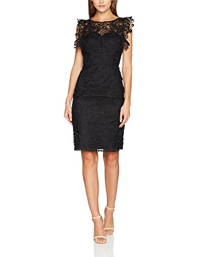 Chi Chi London Damen Etta Kleid, Schwarz (Black BLK), 38