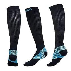 Sable Kompressionsstrümpfe, Socken für Männer und Frauen, Rennsocken für Bessere Leistung und Gute Durchlbutung, Training, Reisen, Flüge, Fitnessstudio