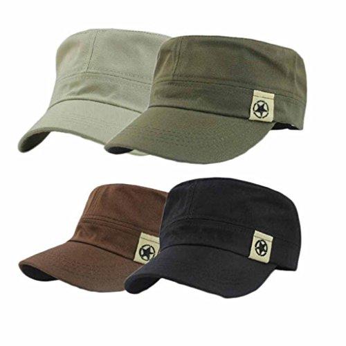 Bonnet, Kolylong® Cap Champ Baseball Mode Unisexe Toit Plat Chapeau Militaire Cadet Patrol Bush Hat Noir
