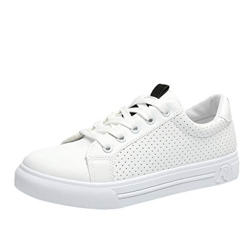 LMMET Scarpe da Ginnastica Basse Donna,Classic Donna Sneakers con Plateau,Scarpe da Studente,Scarpe da Ginnastica,Scarpe Bianche,Selvagge,Antiscivolo