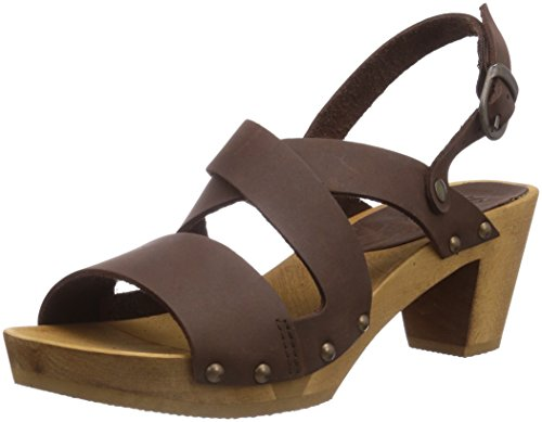 Sanita Olympia Square Flex Damen Sandalen Braun (antique Brown 78)