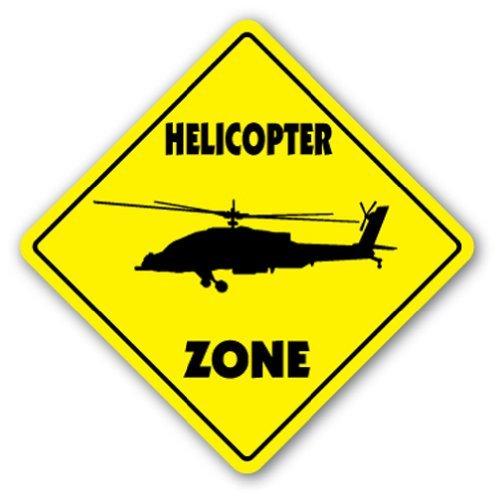 Hubschrauber Crossing Sign Zone Xing  -  30,5cm Hoch Heli Helo ROTAR Klinge Bell Jet Ranger Modell