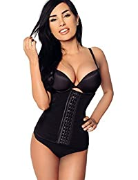 MioChika-Women's Tummy Slimming-Shapewear Breathable Girdle Waist Training Cincher (L)