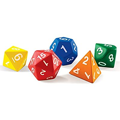 Learning Resources Jumbo Foam Polyhedral Dice from Learning Resources