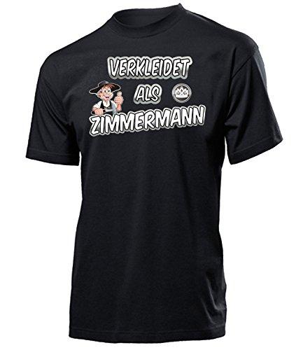 Zimmermann 4987 Karneval Fasching Kostüm Herren Männer Handwerker T-Shirt Karneval Faschingskostüme Karnevalskostüme Schwarz M