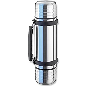 41tanlgGHeL. SS300  - Isosteel VA-9562DQ 1.0 L Duo Vacuum-Insulated Flask with Quickstop Single-Hand Pouring System and 2