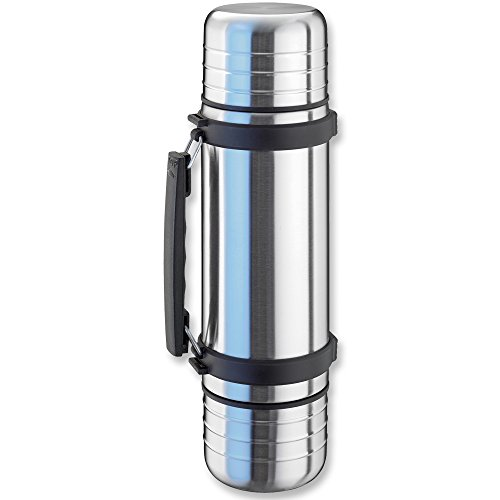 41tanlgGHeL. SS500  - Isosteel VA-9562DQ 1.0 L Duo Vacuum-Insulated Flask with Quickstop Single-Hand Pouring System and 2 Screw-Off Drinking…