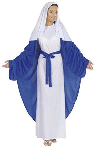 Für Kostüme Erwachsene Heiligen (Widmann 58383 - Erwachsenenkostüm Maria Tunika mit Umhang, Gürtel und Kopfbedeckung, Größe)