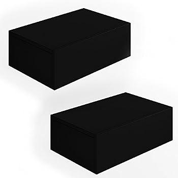 2x nachttisch kommode nachtschrank schublade ablage schrank schlafzimmer schwarz. Black Bedroom Furniture Sets. Home Design Ideas