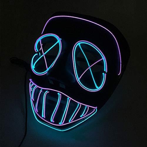 Kostüm Benutzerdefinierte Aus Baby - HOBBMS 2019 Halloween Neue Kaltlichtmaske Night Field Party Party Halloween Lichtlinie Maske Horror Benutzerdefinierte LED-Lichtmaske, LED-Maske Rave, Halloween-Masken for Erwachsene Scary, LED-Maske