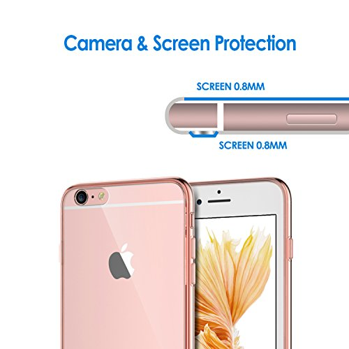 iPhone 6s Plus Hülle, JETech Apple iPhone 6 Plus / 6s Plus 5.5 Hülle Tasche Schutzhülle Case Cover Bumper und Anti-Scratch Löschen Back für iPhone 6s Plus iPhone 6 Plus 5.5 (Roségold) - 3204 Roségold