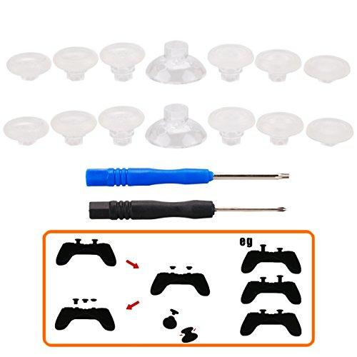 MXRC Professionelles Reparatur-Set für Analogsticks für PS4 Controller und Xbox One Controller, transparent - Teile-kit Controller Ps3