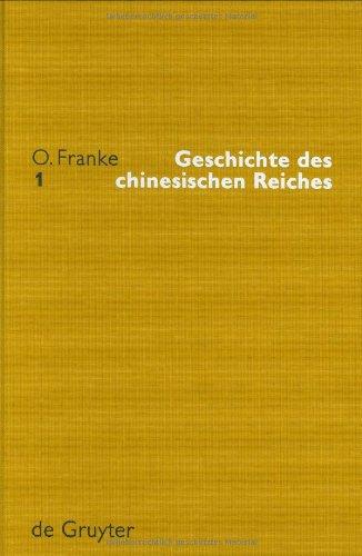 Geschichte des chinesischen Reiches. 5 Bände