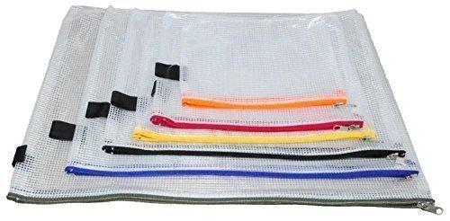 Vielzweck-Beutel mit Zip, PVC, 6er-Set, farblich sortiert