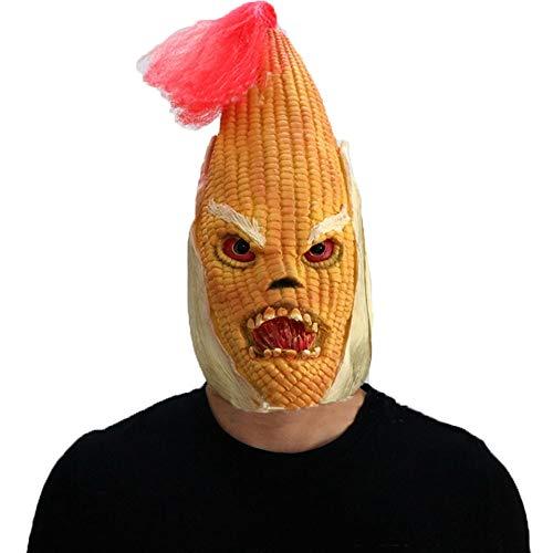 Kostüm Festival Mais - AGYE Latex Maske -für Halloween Cosplay Partei-Kostüm-Abendkleid(Mais)