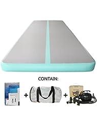 Hinchable Colchoneta de gimnasia (Home aire suelo hinchable Tumbling alfombrilla para gimnasia pista con eléctrico soplador de aire inflable 5m x x20cm