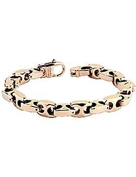 Paula & Fritz® Armband roségold Tungsten Wolfram Anker Länge Breite Dicke in m...