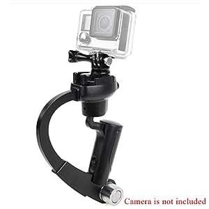 Andoer caméra de poche stabilisateur courbe caméscope Compact stabilisateur pour GoPro Hero 4/3 + / 3/2/1 noir