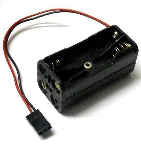 C1202-1 Support De Batterie Rc Case Box Pack 4 X Aa Futaba