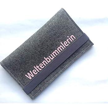 Reiseorganizer, Reiseetui Größe M aus Wollfilz Geschenk Weihnachten Geburtstag