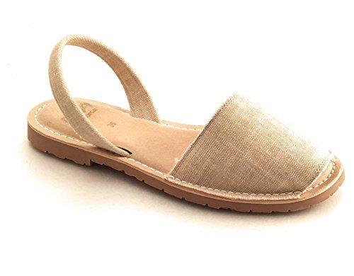 RIA MENORCA Scarpe Sandalo Donna 27600-S2 Bio Cotton Sand Primavera Estate  2018 4f35c649c76
