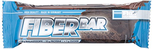 Frey Nutrition Fiber Bar Double Chocolate Brownie Riegel, 1er Pack (1 x 720 g) (Und Schwein Cookies)