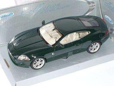 Jaguar-Xk150-Xk-150-Coupe-Grn-Green-Metallmodell-124-Welly-Modellauto-Modell-Auto