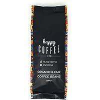 Happy Coffee Kaffeebohnen 1kg - Frisch geröstet - ganze Bohne - Premium Bio-Kaffee, Fair-trade, Arabica, Crema