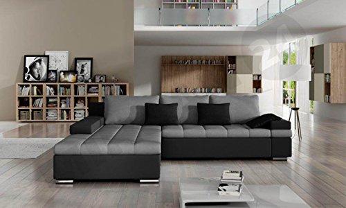 Design Ecksofa Bangkok, Moderne Eckcouch mit Schlaffunktion und Bettkasten, Ecksofa für Wohnzimmer, Gästezimmer, Couch L-Form, Wohnlandschaft, (Ecksofa Links, Soft 011 + Casablanca 2314 + Casablanca 2316) - 2