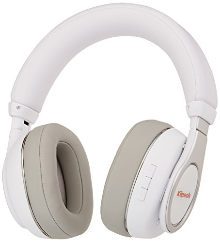 Klipsch Reference Over-Ear Bluetooth Binaural Bandeau Blanc Casque Audio - Casques Audio (Binaural, Bandeau, Blanc, avec Fil &sans Fil, Micro-USB, 10 m)