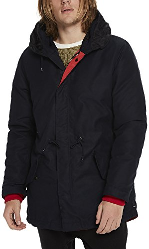 Scotch & Soda Herren Double Layer Hydrus Parka Jacket Jacke, Blau (Midnight 59), Large