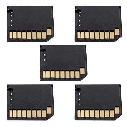 Mini Adapter Micro SD TF auf SD Card Kit Mini Adapter Low Profile für zusätzlichen Speicher MacBook Air Pro Retina schwarz 5 Stück - Air-adapter-kit